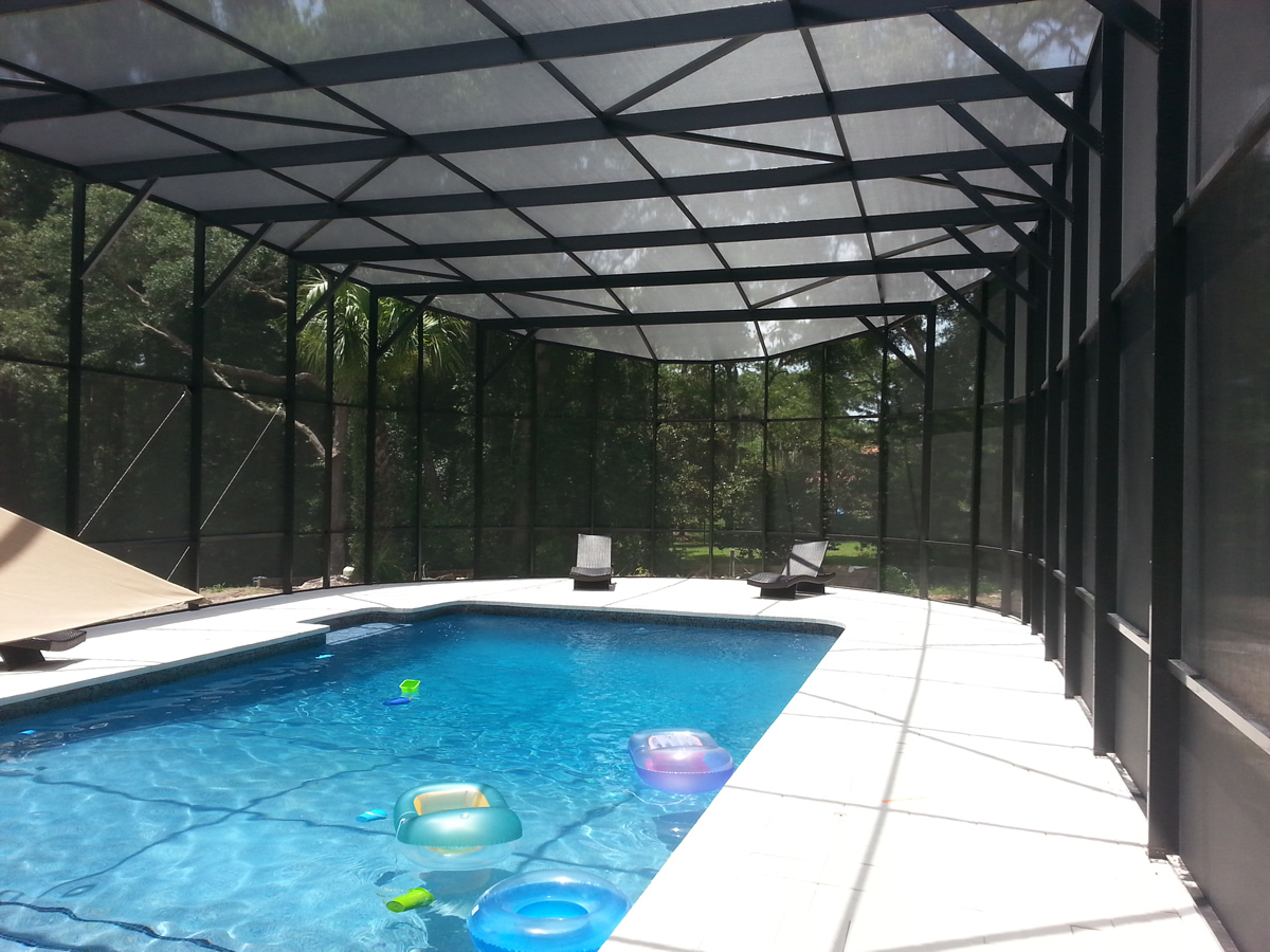 Screen enclosure pool screens pool pavers gallery for Pool design inc